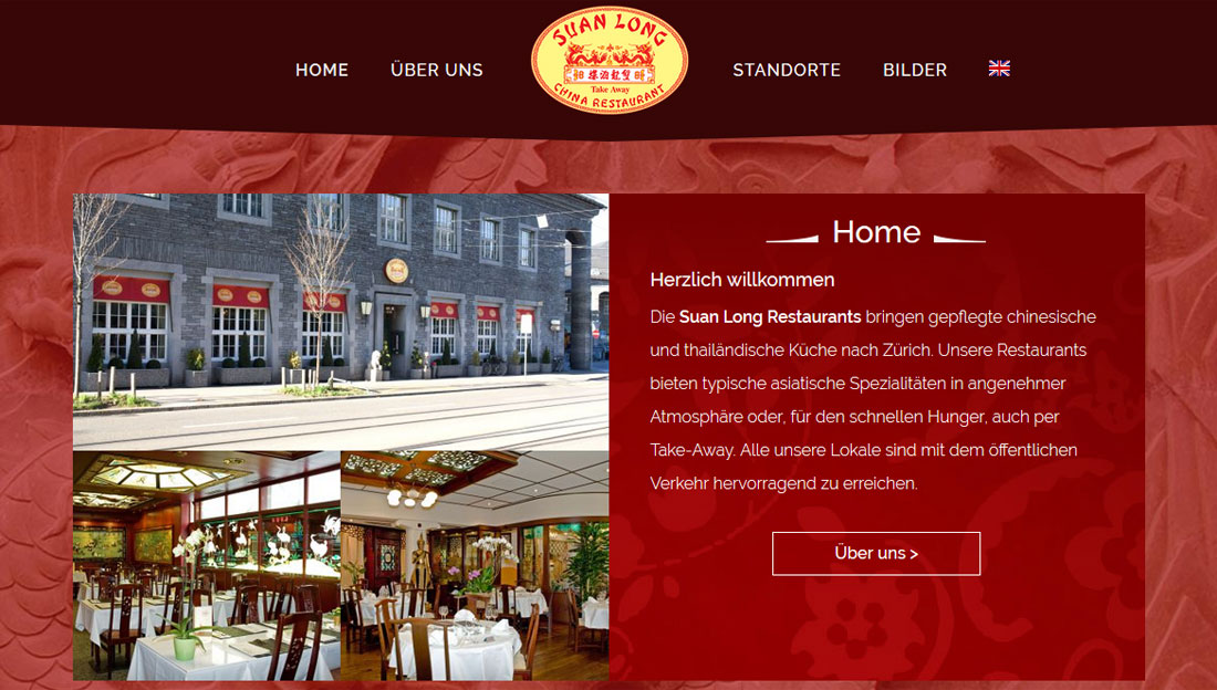 Webdesign und Wordpress-Multisite Umsetzung Suan Long Restaurants