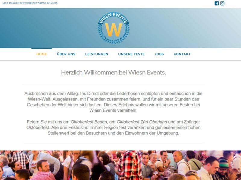 Webdesign und Wordpress-Umsetzung Wiesn Events