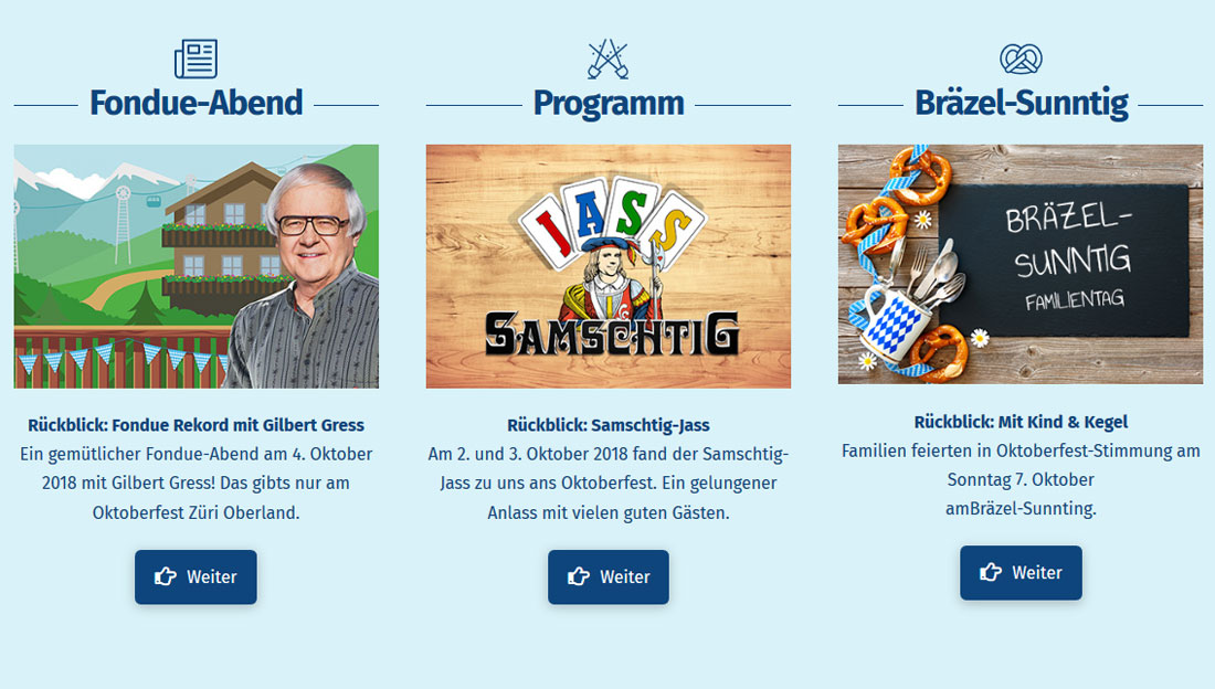 Screen - Oktoberfest Uster - Webdesign