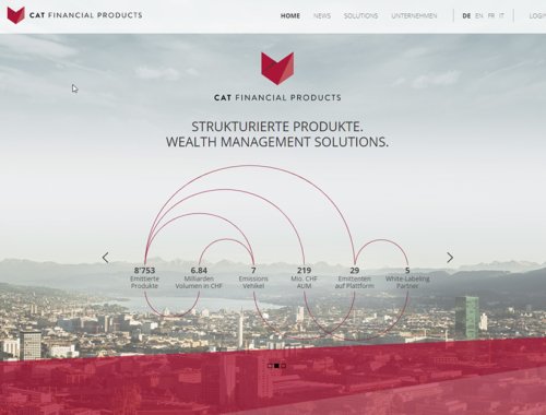 Screen Homepage - Cat Financial Products